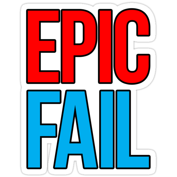 Epic Fail (red/sky blue) by DropBass