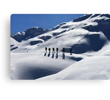 Winter Hiking Canvas Print