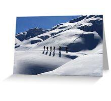 Winter Hiking Greeting Card