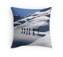 Winter Hiking Throw Pillow