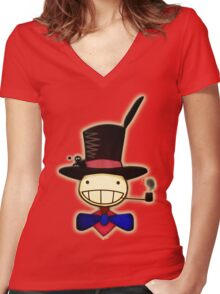 Turnip Head, Howls Moving Castle! Women's Fitted V-Neck T-Shirt