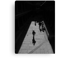 Running the red flag Canvas Print