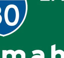 Omaha, NE Road Sign, USA Sticker