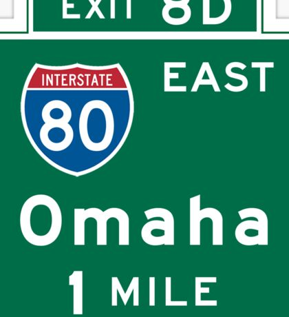 Omaha, NE Road Sign, USA Sticker