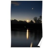 An End To A Hot Day On The Murray River Poster
