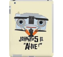 Johnny 5 is ALIVE! iPad Case/Skin