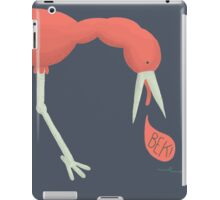 Bird chasing an earthworm iPad Case/Skin
