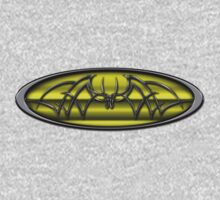 Classic Yellow & Black Batman Tribal Kids Tee