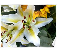 Mums Lilies Poster