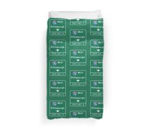 Pittsburgh, PA Road Sign, USA Duvet Cover