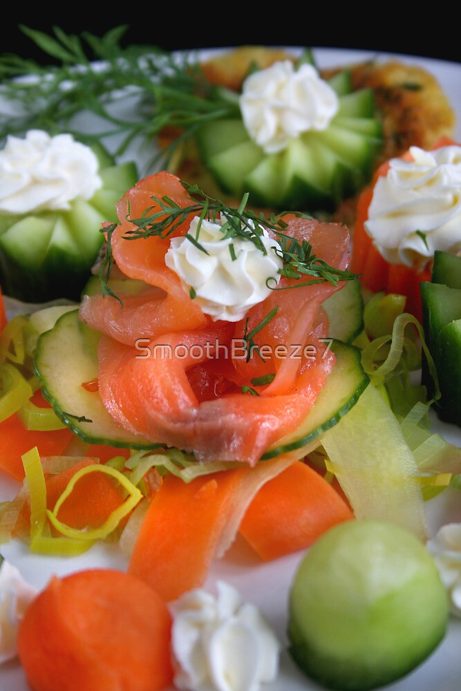 Springtime Appetizer With Salmon by SmoothBreeze7