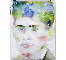 FRANZ KAFKA - watercolor portrait.5 iPad Case/Skin