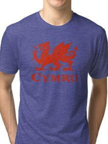 cymru wales welsh cardiff dragon Tri-blend T-Shirt