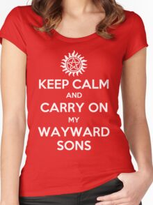 Supernatural - Keep Calm And Carry On My Wayward Sons Women's Fitted Scoop T-Shirt