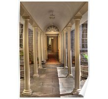 Colonnaded Courtyard, Vaucluse House, Sydney, NSW, Australia Poster
