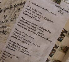 BACK OF CANVAS - WILD WEST PANTS PARTY *NATIVE PEOPLES* 1 POETRY  by Tuartkatz