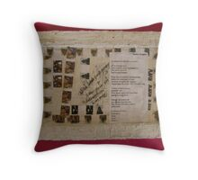 BACK OF CANVAS - WILD WEST PANTS PARTY *NATIVE PEOPLES* 3 ALL PINK Throw Pillow