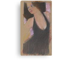 oil pastel doodle - dress Canvas Print