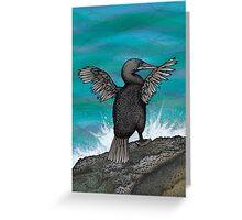 Flightless Cormorant of Galapagos Greeting Card