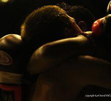 muay thai 001 by Karl David Hill