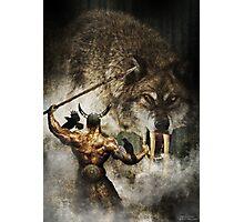 Odin and Fenrir Photographic Print
