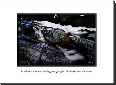 Stand Like a Rock - Jefferson Quote Card, Print, Poster by Wayne King