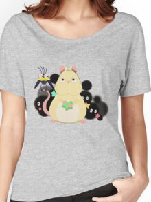 Mouse and bird from Spirited Away. Women's Relaxed Fit T-Shirt