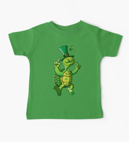 Saint Patrick's Day Turtle Baby Tee