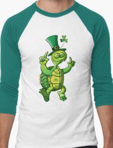 Saint Patrick's Day Turtle Men's Baseball ¾ T-Shirt