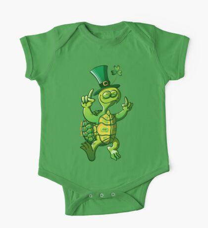 Saint Patrick's Day Turtle One Piece - Short Sleeve