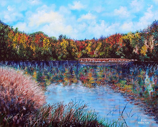'The Lake at Crowder's Mt.' by Jerry Kirk