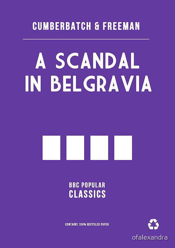 BBC Sherlock - A Scandal in Belgravia Minimalist by ofalexandra