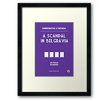 BBC Sherlock - A Scandal in Belgravia Minimalist Framed Print