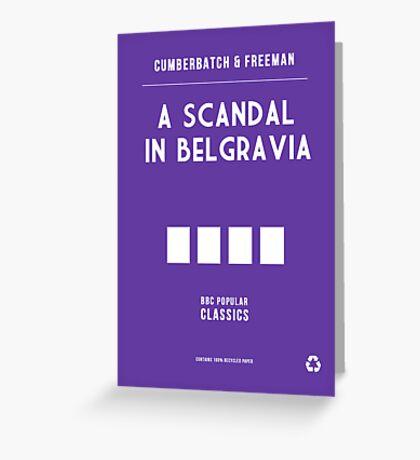 BBC Sherlock - A Scandal in Belgravia Minimalist Greeting Card