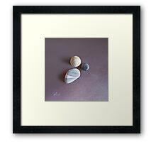 """Lines & circles"" Framed Print"