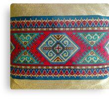 """Latvian Pillow - RED""© Metal Print"
