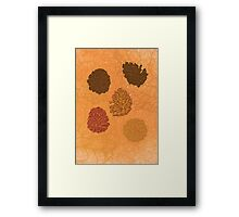 Graphic pinecones Framed Print