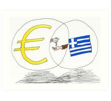 caricature des options binaires - la Grèce, l'UE et l'EURO Art Print