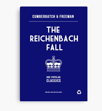 BBC Sherlock - The Reichenbach Fall Minimalist Canvas Print