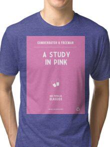 BBC Sherlock - A Study in Pink Minimalist Tri-blend T-Shirt