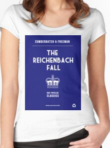 BBC Sherlock - The Reichenbach Fall Minimalist Women's Fitted Scoop T-Shirt