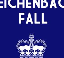 BBC Sherlock - The Reichenbach Fall Minimalist Sticker
