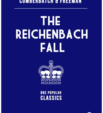 BBC Sherlock - The Reichenbach Fall Minimalist Sticker