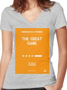 BBC Sherlock - The Great Game Minimalist Women's Fitted V-Neck T-Shirt