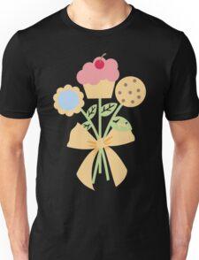 Cookies cupcake flower bouquet bow t-shirt Unisex T-Shirt