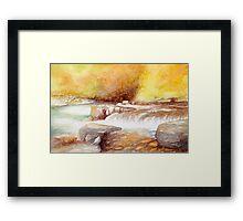 East Lyn river Framed Print