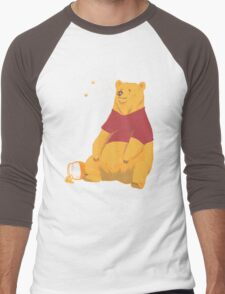 Pooh at the Zoo Men's Baseball ¾ T-Shirt