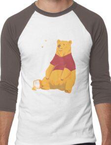 Pooh at the Zoo Men's Baseball ¾ T-Shirt