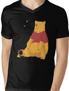 Pooh at the Zoo Mens V-Neck T-Shirt
