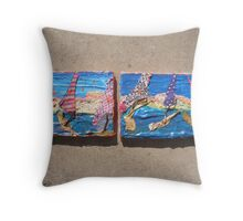 WILD WEST PANTS PARTY *party in the surf 8 'sun down on the sidewalk spectators' Throw Pillow